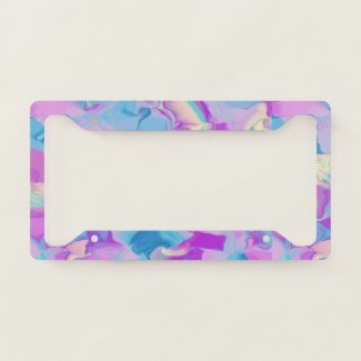 Spring Pastel License Plate Frame