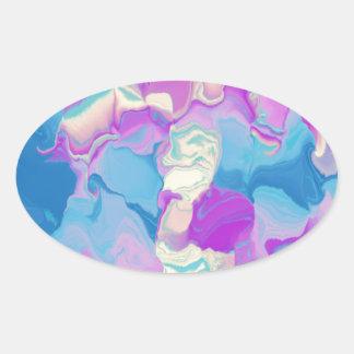 Spring Pastel Oval Sticker