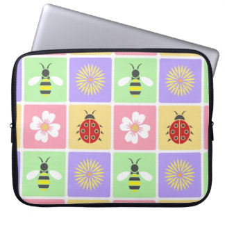 Spring Patches Laptop Sleeve