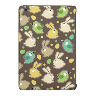 spring pattern with easter eggs,birds iPad mini cover