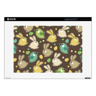 "spring pattern with easter eggs,birds decal for 15"" laptop"