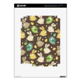 spring pattern with easter eggs,birds decals for iPad 3