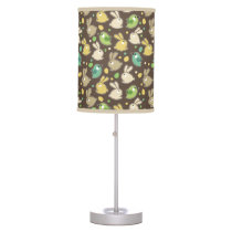 spring pattern with easter eggs,birds table lamp