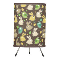 spring pattern with easter eggs,birds tripod lamp