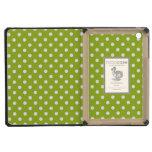 Spring pattern with white polka dots iPad mini retina cover