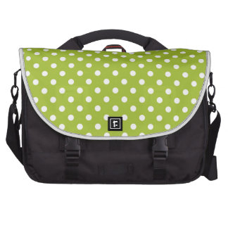 Spring pattern with white polka dots bag for laptop