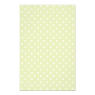 Spring pattern with white polka dots stationery paper