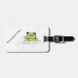 Spring Peeper or Cricket Frog Bag Tag