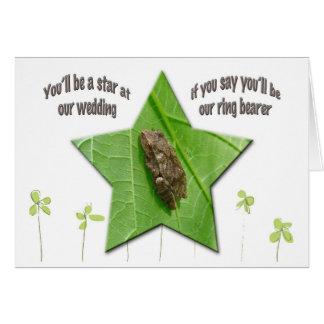 Spring Peeper (Pseudacris crucifer) Ring Bearer Card