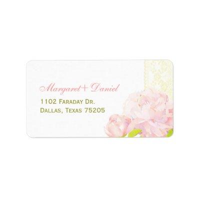 Spring Peony Boho Wedding Label