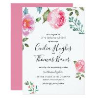 Spring Peony Floral Wedding Invitation