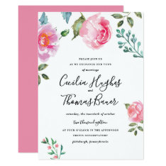 Spring Peony Floral Wedding Invitation at Zazzle