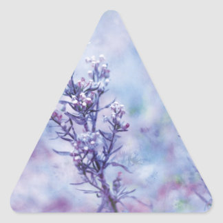 Spring Photography Blooming Flowers Triangle Sticker
