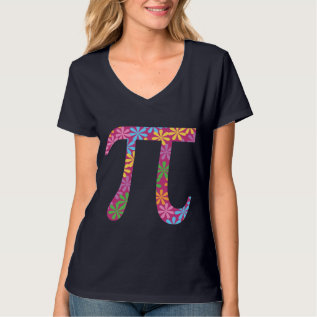 Spring Pi Flowery Colorful Pi Day Gift T-shirt at Zazzle