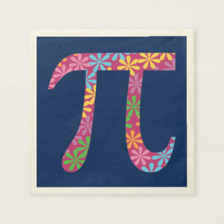 Spring Pi - Flowery Colorful Pi Day Gifts Paper Napkin
