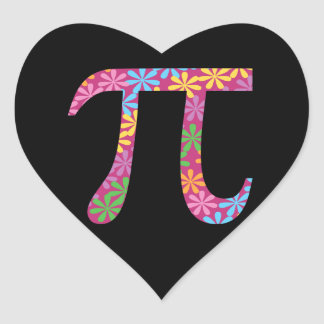 Spring Pi Stickers - Floral Pi Symbol Gift