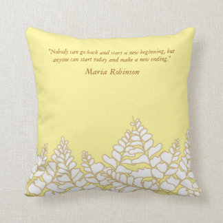 Spring Pillow with Quotes