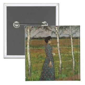 Spring Pinback Button