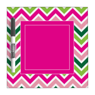 Spring Pink and Green Dry Erase Board