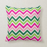 Spring Pink and Green Pillow