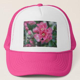 Spring Pink Blooming Flowering Quince Trucker Hat