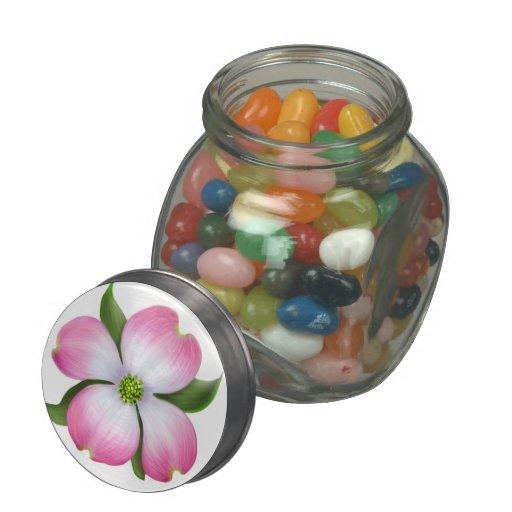 Spring Pink Dogwood Tree Blossom Candy Jar Glass Candy Jar
