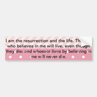 Spring Pink Easter Verse Bumper Sticker