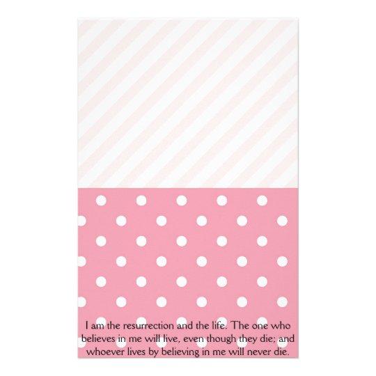 Spring Pink Easter Verse Stationery