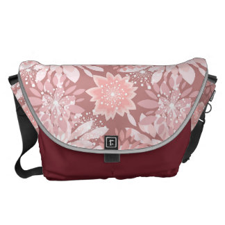 Spring  pink flora patterns courier bag