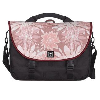 Spring  pink flora patterns laptop bag