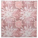 Spring  pink flora patterns printed napkin
