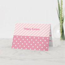 Spring Pink Patterns Holiday Card