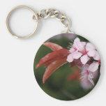 spring pink plum flowers keychain