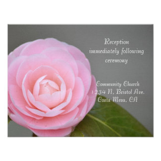 Spring Pink Rose Reception Announcements