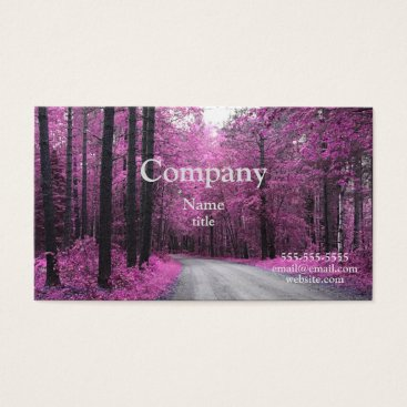 Professional Business Spring Pink Trees Business Cards