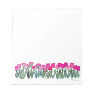 """Spring Pink Tulips 5.5"""" x 6"""" Notepad - 40 pages"""