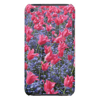 Spring Pink Tulips and purple flowers Case-Mate iPod Touch Case