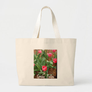 Spring Pink Tulips by CricketDiane Large Tote Bag