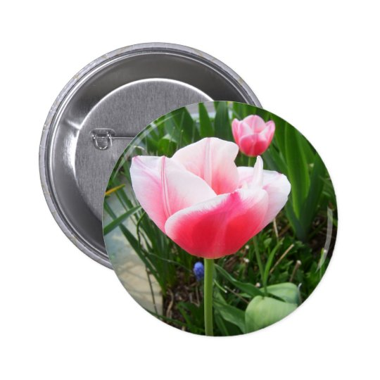 Spring Pink Tulips CricketDiane Flowers Button