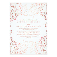 Spring Pinks Baby's Breath Floral Vintage Wedding Card
