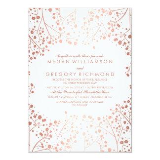 Spring Pinks Baby's Breath Floral Vintage Wedding Invitation