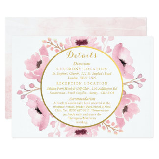 Spring Pinks Watercolor Floral Wedding Collection Invitation