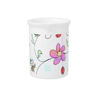Spring plaid beverage pitcher