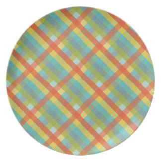 Spring Plaid Plate