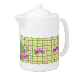 Spring Plaid Tea Celebration Teapot