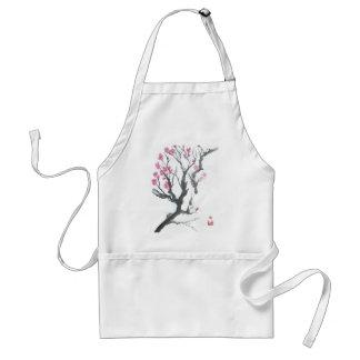 Spring Plum Blossom Branch Art Adult Apron