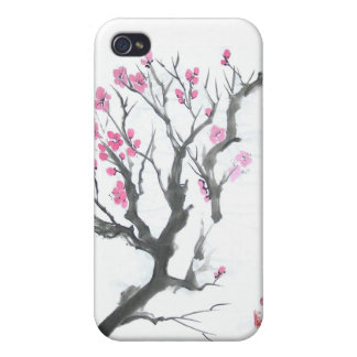 Spring Plum Blossom Branch Art iPhone 4 Cover