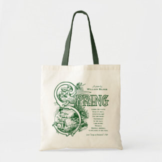 Spring Poem William Blake Literature Satyr Lamb Tote Bag