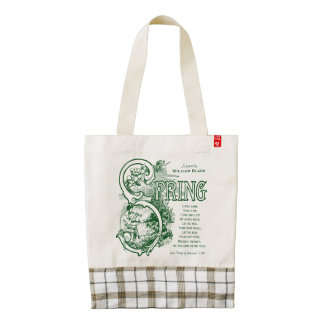 Spring Poem William Blake Victorian Art Satyr Lamb Zazzle HEART Tote Bag