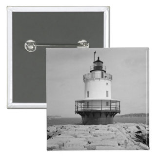 Spring Point Ledge Lighthouse 2 Inch Square Button